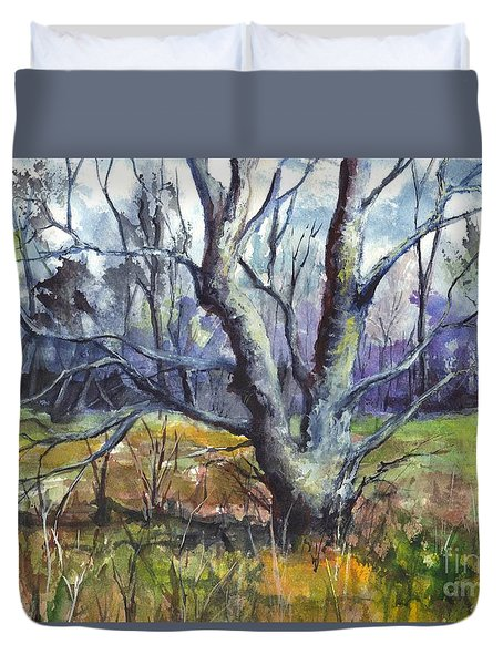 A Tree For Thee Duvet Cover by Carol Wisniewski