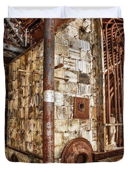 Abandoned Steam Plant Duvet Cover
