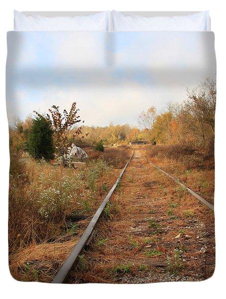 Abandoned Tracks Duvet Cover by Melinda Fawver