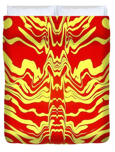 Abstract 48 Duvet Cover by J D Owen