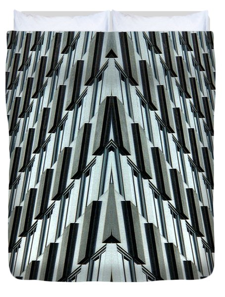Abstract Buildings 4 Duvet Cover by J D Owen
