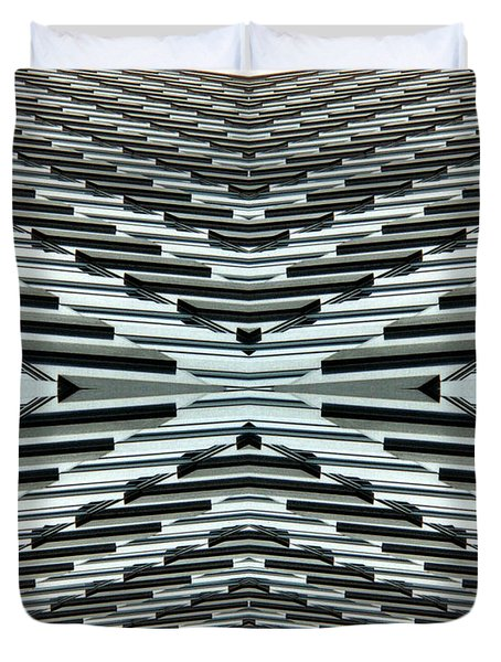 Abstract Buildings 5 Duvet Cover by J D Owen