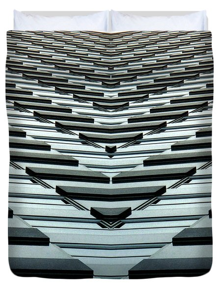 Abstract Buildings 7 Duvet Cover by J D Owen