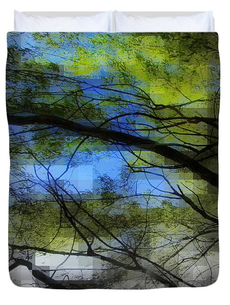 Duvet Cover featuring the photograph Abstract Forest by France Laliberte