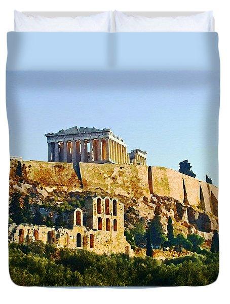Acropolis Duvet Cover by Ellen Henneke
