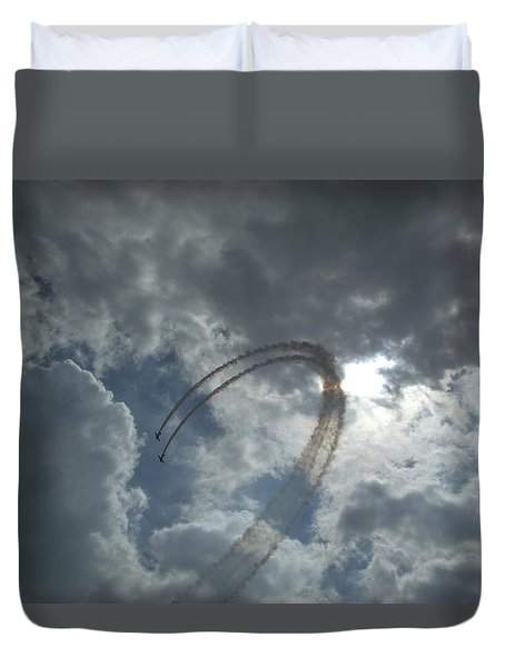 Aerial Display Duvet Cover