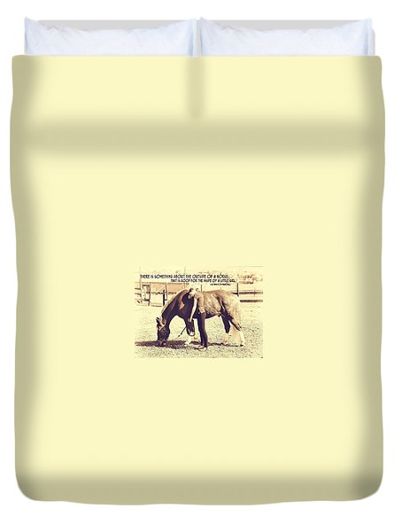 After The Competition Quote Duvet Cover by JAMART Photography