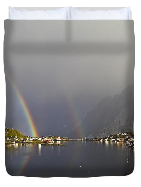After The Rain In Reine Duvet Cover by Heiko Koehrer-Wagner