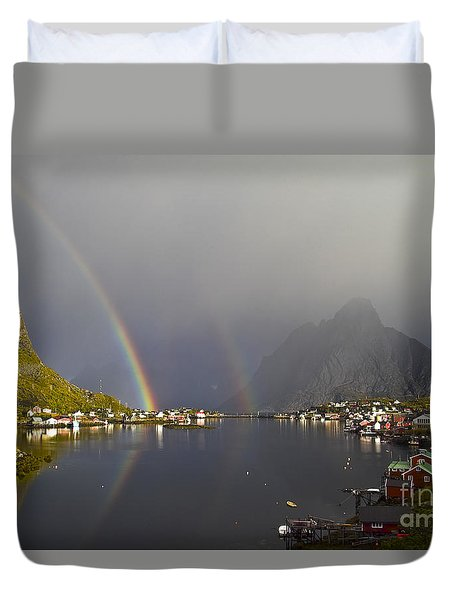 After The Rain In Reine Duvet Cover