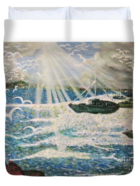 After The Storm Duvet Cover by Leanne Seymour