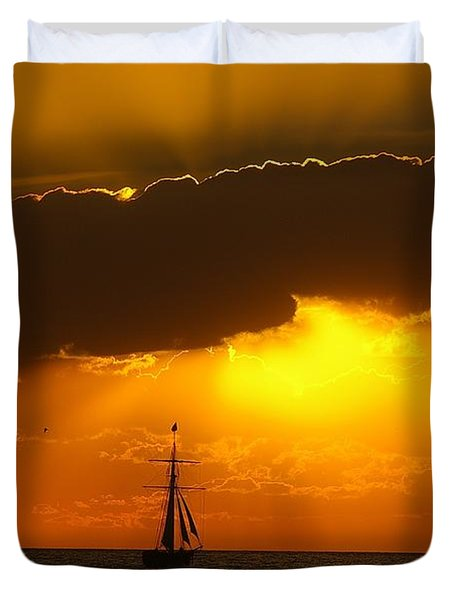 Duvet Cover featuring the photograph After The Storm by Randy Pollard