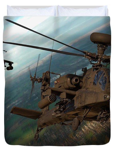 2 Ah64 Apache Duvet Cover by Ken Brannen