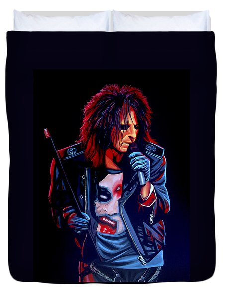 Alice Cooper  Duvet Cover by Paul Meijering