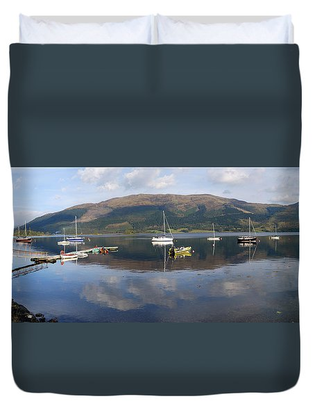 Duvet Cover featuring the photograph Along Loch Leven 3 by Wendy Wilton