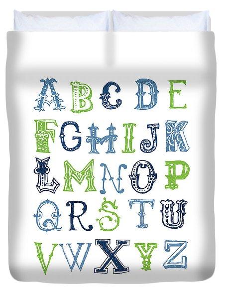 Alphabet Poster Duvet Cover