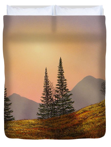 Alpine Sunset Duvet Cover