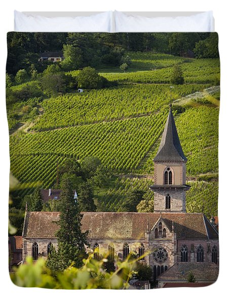 Alsace Church Duvet Cover by Brian Jannsen