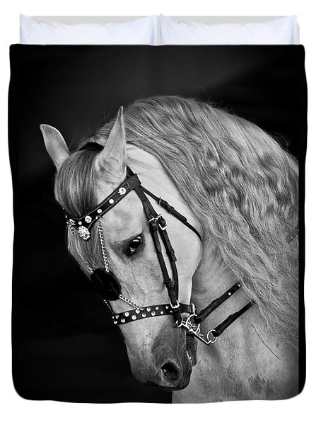 Duvet Cover featuring the photograph Andalusian D9098 by Wes and Dotty Weber