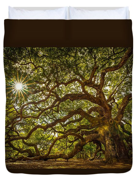 Angel Oak Duvet Cover by Serge Skiba
