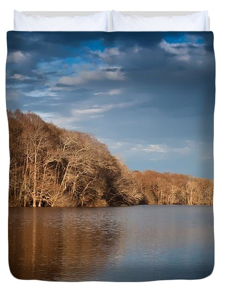 Apalachicola River  Duvet Cover by Debra Forand