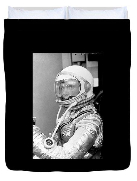 Astronaut John Glenn Duvet Cover by War Is Hell Store