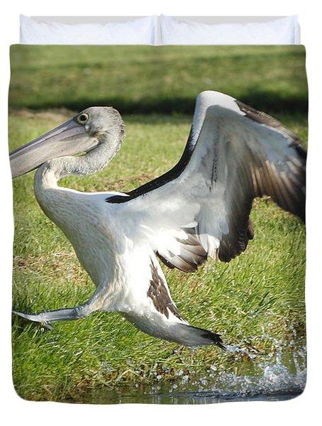 Australian Pelican Duvet Cover