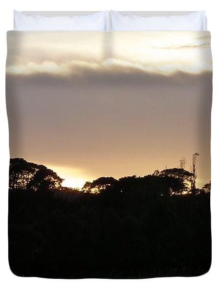 Australian Sunrise Duvet Cover by Bev Conover
