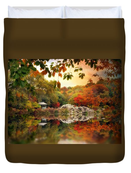 Autumn At Hernshead Duvet Cover