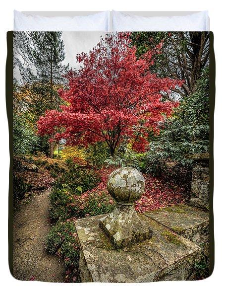 Autumn Path Duvet Cover by Adrian Evans