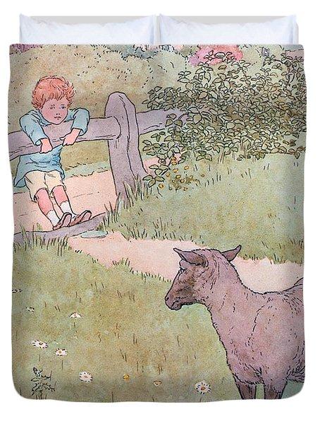 Baa Baa Black Sheep Duvet Cover by Leonard Leslie Brooke