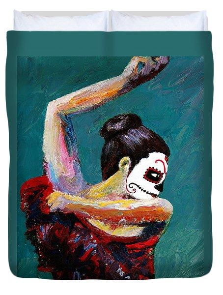 Bailan De Los Muertos Duvet Cover