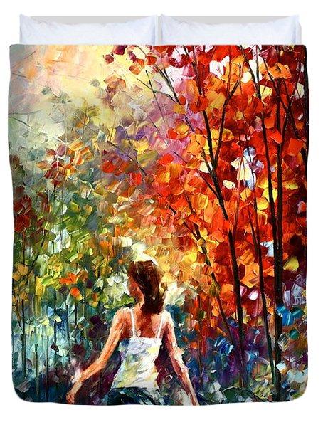 Barefooted Stroll Duvet Cover by Leonid Afremov