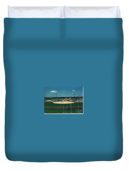 Baseball Diamond Duvet Cover
