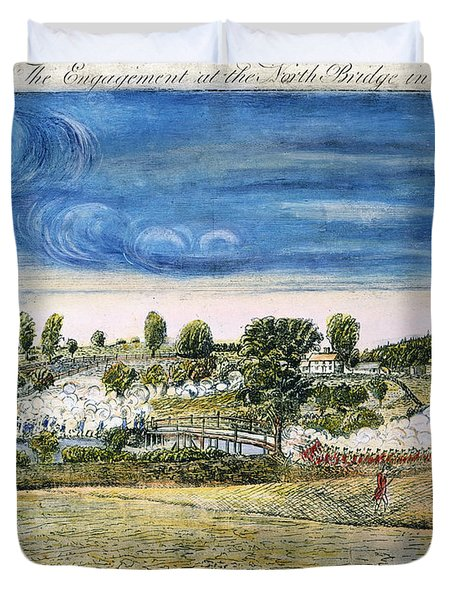 Battle Of Concord, 1775 Duvet Cover by Granger