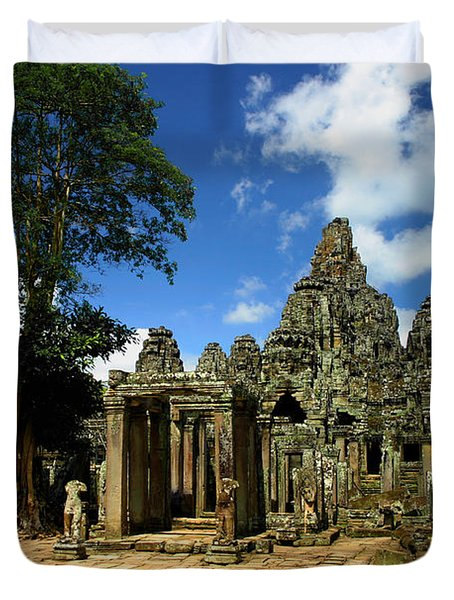 Bayon Temple View From The East Duvet Cover