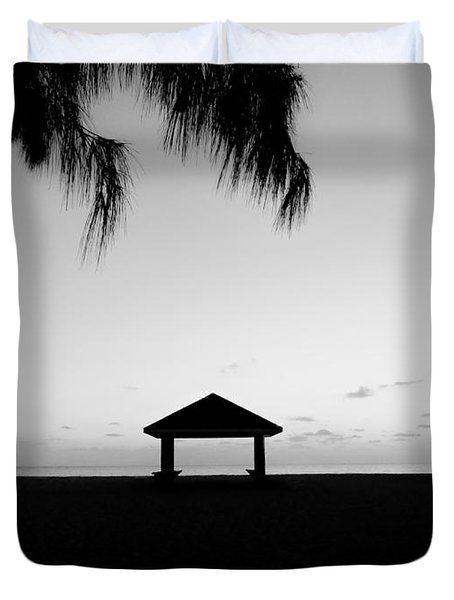 Duvet Cover featuring the photograph Beach Huts by Amar Sheow