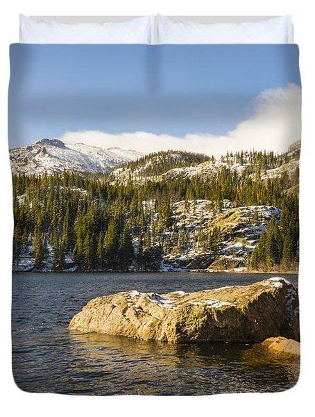 Bear Lake - Rocky Mountain National Park Colorado Duvet Cover by Brian Harig