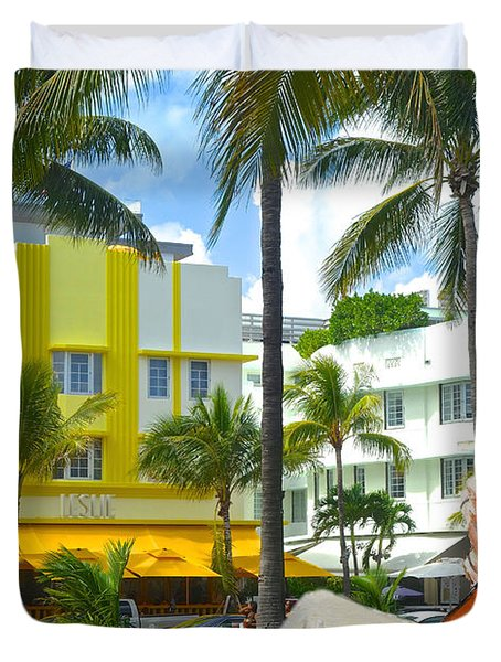 Beat Of Miami Duvet Cover by Judy Kay