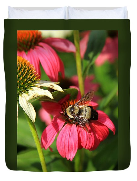 Bee Nice Duvet Cover by Reid Callaway