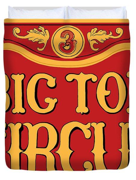 Big Top Circus Duvet Cover by Kristin Elmquist