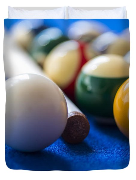 Billiard Balls Duvet Cover