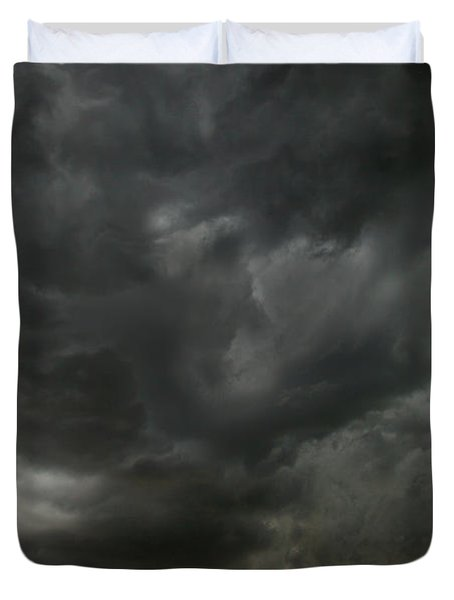 Billowing Clouds At Sunset North Dakota Duvet Cover