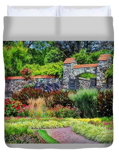 Biltmore Gardens Duvet Cover by Savannah Gibbs