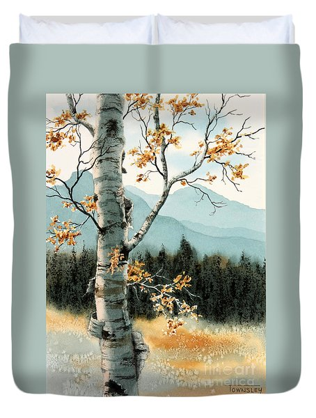 Paper Birch Duvet Cover
