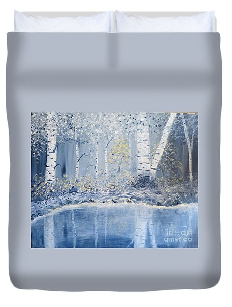 Birch Reflections Duvet Cover