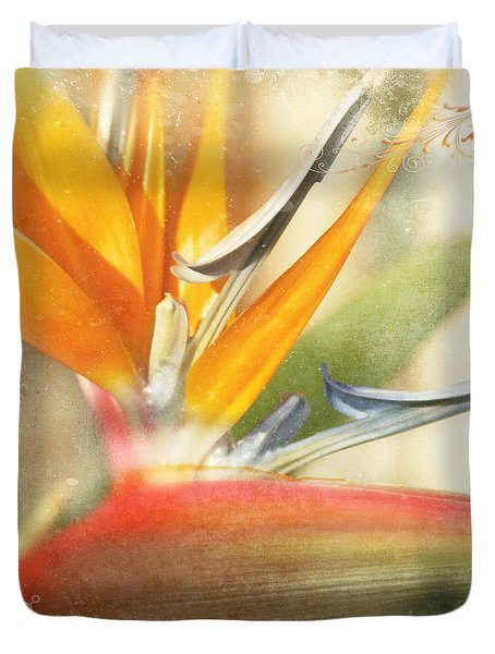 Bird Of Paradise - Strelitzea Reginae - Tropical Flowers Of Hawaii Duvet Cover