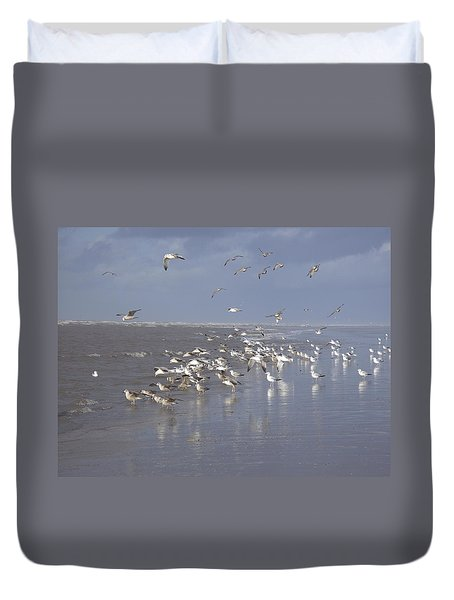 Birds At The Beach Duvet Cover
