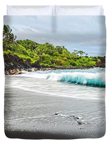 Black Sand Paradise Duvet Cover