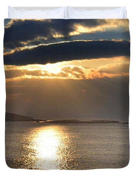 Blasket Islands Duvet Cover by Barbara Walsh