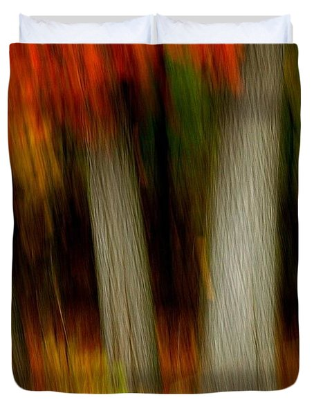 Blazing In The Woods Duvet Cover